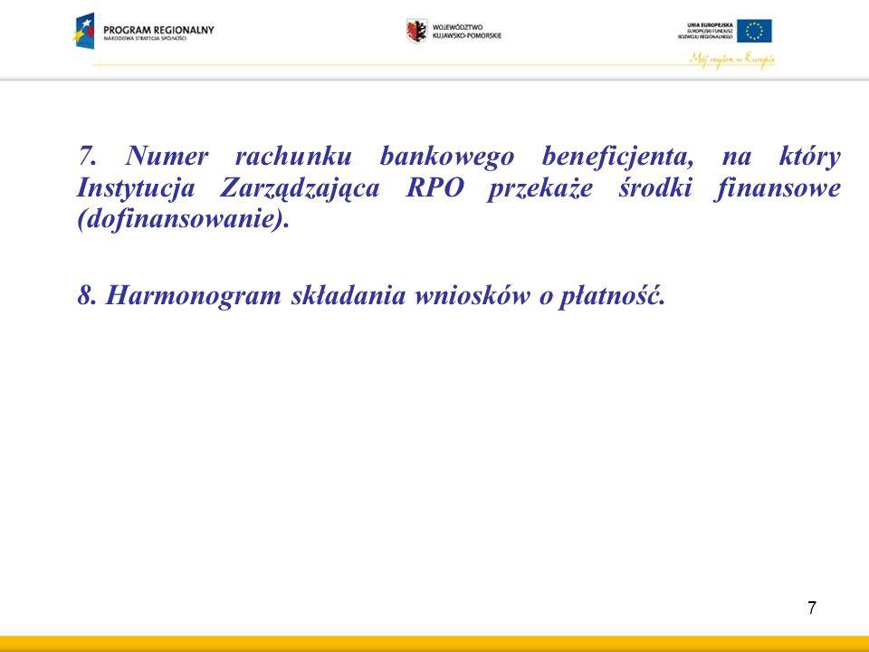 9.Dokumenty potwierdzające zabezpieczenie środków na realizację projektu.