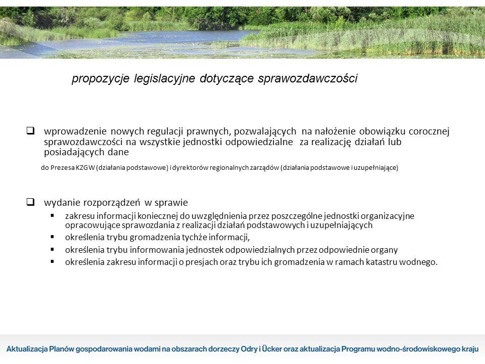 propozycje legislacyjne dotyczące sprawozdawczości  wprowadzenie nowych regulacji prawnych, pozwalających na nałożenie obowiązku corocznej sprawozdaw