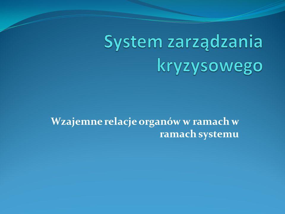 Wzajemne relacje organów w ramach w ramach systemu