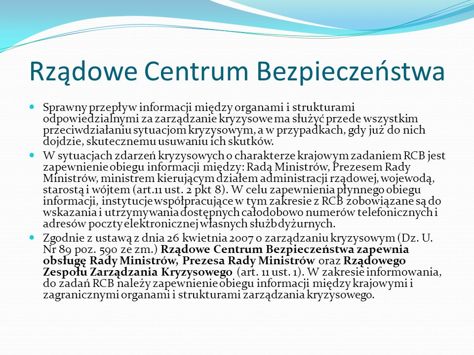Najważniejsze akty prawne Ustawa z dnia 26 kwietnia 2007 r.