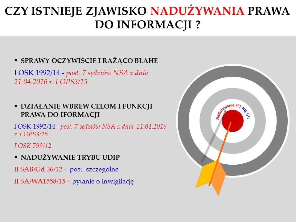  SPRAWY OCZYWIŚCIE I RAŻĄCO BŁAHE I OSK 1992/14 - post.
