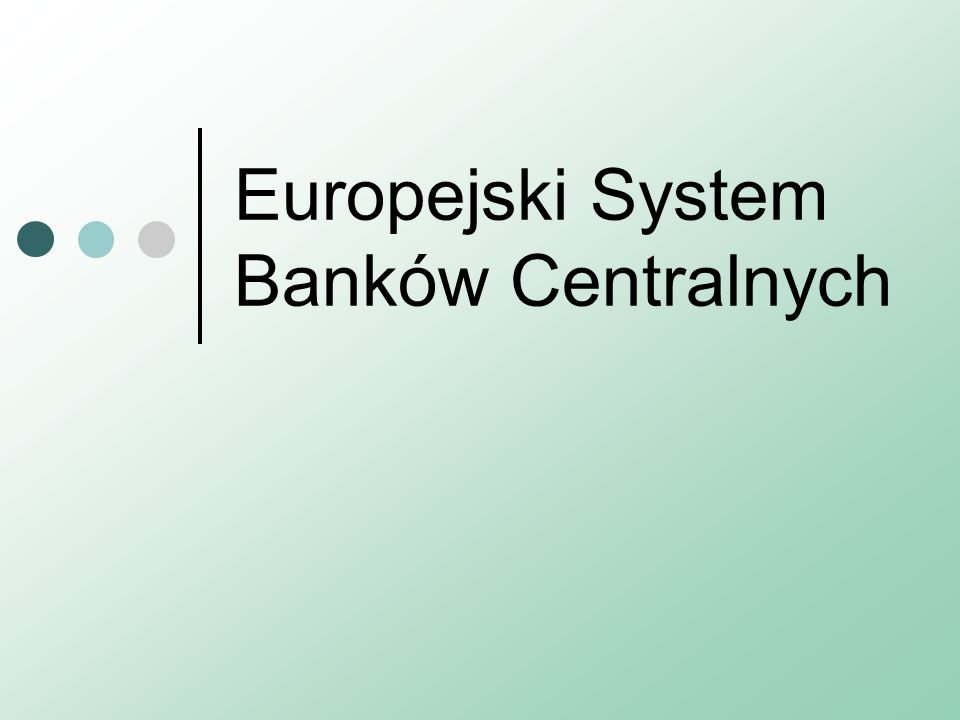 Kontrola działalności EBC Kontrola działalności EBC/ESBC polega na obowiązku przedkładania sprawozdania z działalności, które jest oceniane przez Parlament, Komisję i Radę.