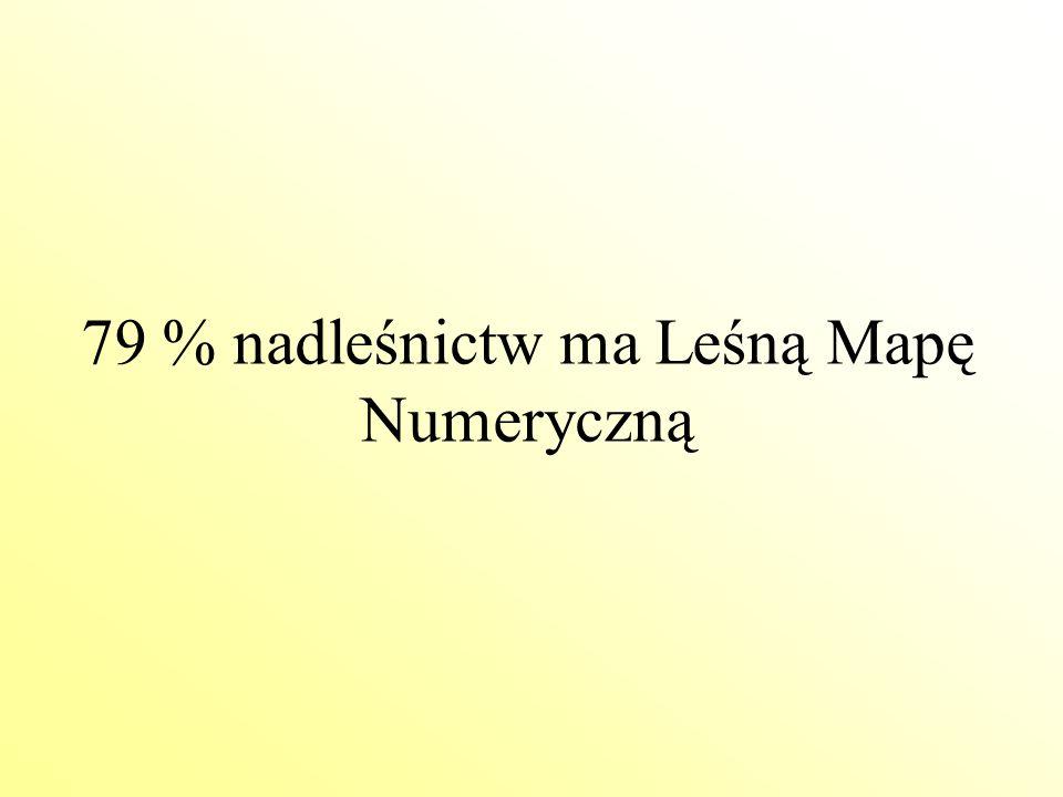 79 % nadleśnictw ma Leśną Mapę Numeryczną