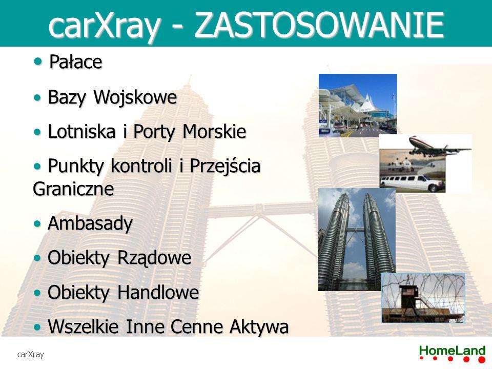 carXray - SPECYFIKACJA carXray Kategoria i Klasa Systemu (According to ANSI N43.17-2009) Kategoria 1: Systemy Ogólnego Użytku Klasa A: Pełne skanery Rozmiar Bramki Przejazdowej3000 (szer) x 2500 (wys) mm Technologia WykrywaniaX-Ray Dawka Promieniowania< 0.05 µSv PenetracjaStal o grubości 20 mm Standard EkologicznyIP65 Maksymalna Prędkość PojazduDo 20km/h Wydajność15 sekund na pojazd