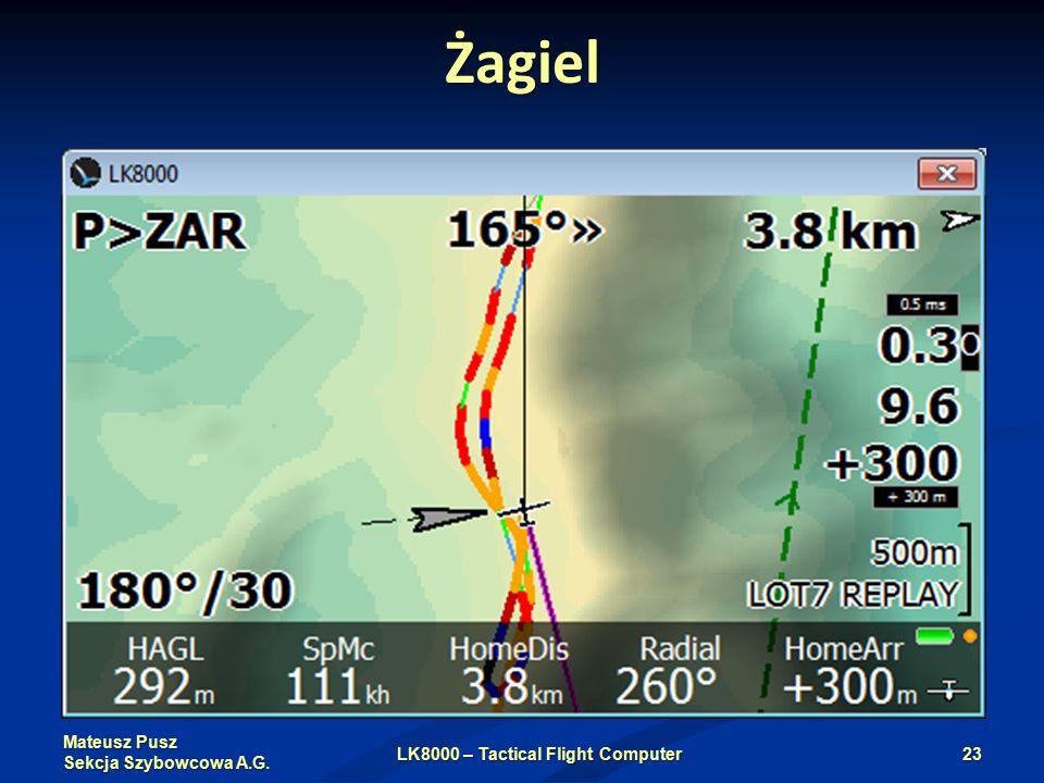 Mateusz Pusz Sekcja Szybowcowa A.G. Żagiel LK8000 – Tactical Flight Computer23