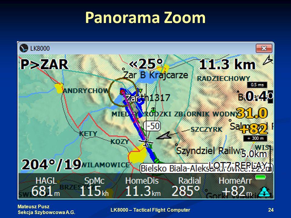 Mateusz Pusz Sekcja Szybowcowa A.G. Panorama Zoom LK8000 – Tactical Flight Computer24
