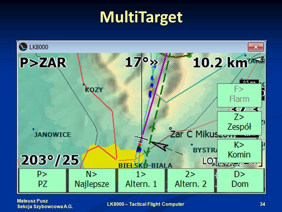 Mateusz Pusz Sekcja Szybowcowa A.G. MultiTarget LK8000 – Tactical Flight Computer34