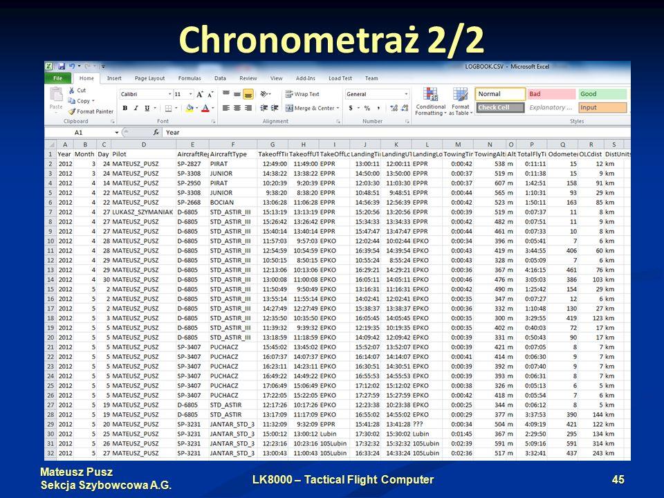 Mateusz Pusz Sekcja Szybowcowa A.G. Chronometraż 2/2 LK8000 – Tactical Flight Computer45