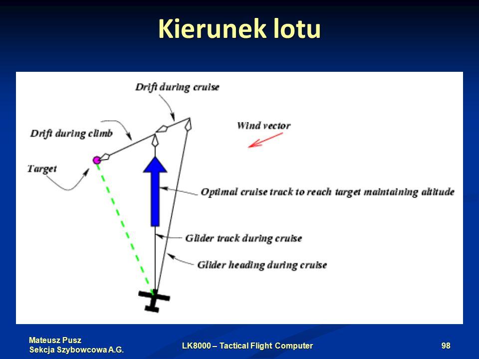 Mateusz Pusz Sekcja Szybowcowa A.G. Kierunek lotu LK8000 – Tactical Flight Computer98