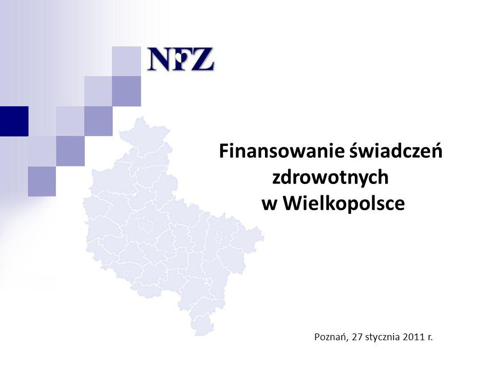 Poznań – Leszno – Kalisz – Konin – Piła Finansowanie świadczeń zdrowotnych w Wielkopolsce Poznań, 27 stycznia 2011 r.