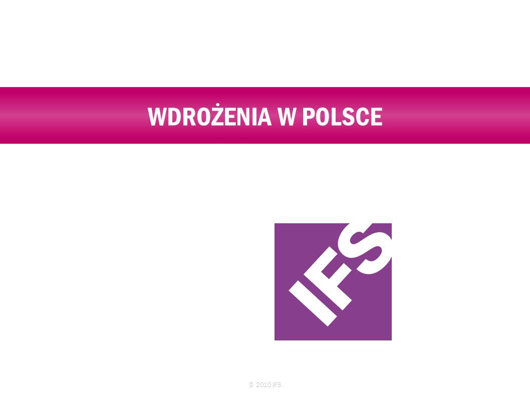 WDROŻENIA W POLSCE © 2010 IFS