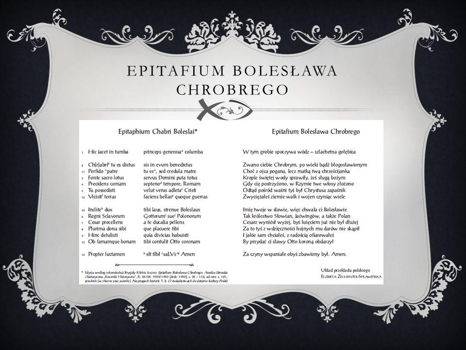 EPITAFIUM BOLESŁAWA CHROBREGO