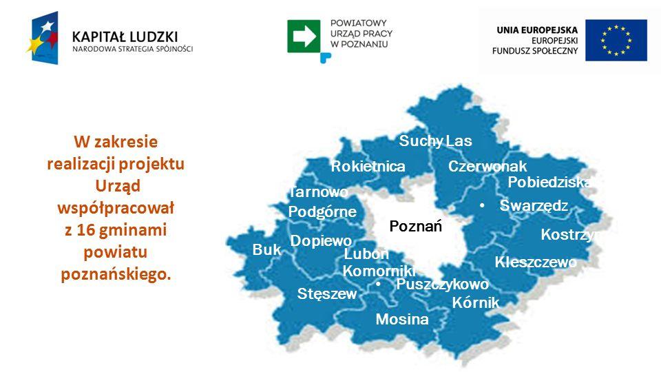 W zakresie realizacji projektu Urząd współpracował z 16 gminami powiatu poznańskiego.