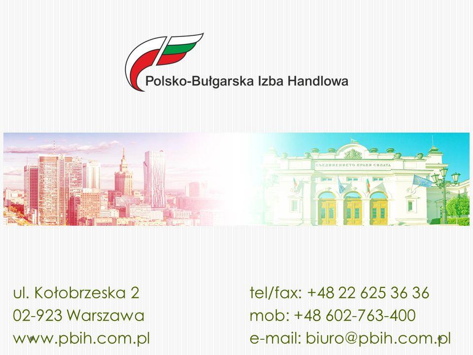 Współpraca i osiągnięcia Jednym z najważniejszych sukcesów Izby było stworzenie Polsko-Bułgarskiego Klastra Doradczego, będącego podstawą i impulsem dla prężniejszego rozwoju współpracy polsko-bułgarskiej, która w ostatnim roku zauważalnie nabrała tempa.