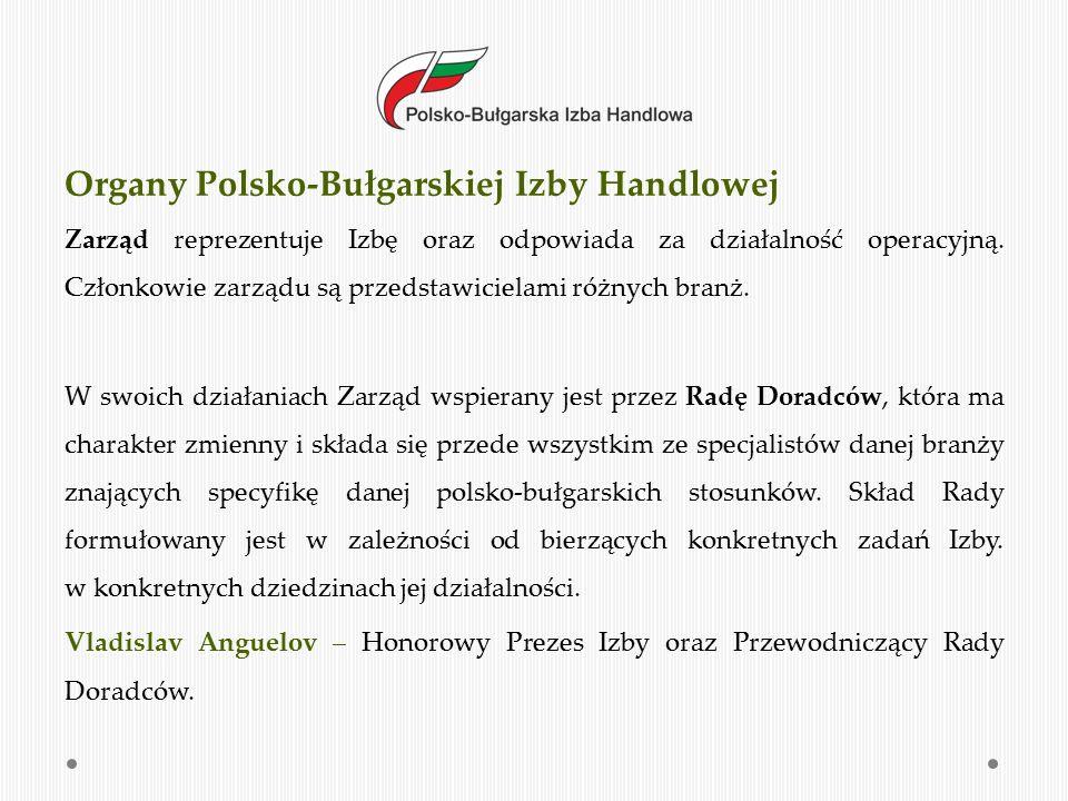 """Polsko-Bułgarska Izba Handlowa od 2011 roku jest koordynatorem Polsko- Bułgarskiego Klastra Doradczego, który został utworzony na potrzeby realizacji projektu """"Tworzenie warunków do współpracy pomiędzy przedsiębiorstwami na Mazowszu dzięki utworzeniu Polsko-Bułgarskiego Klastra Doradczego , z działania 1.6 RPO WM """"Wspieranie powiązań kooperacyjnych o znaczeniu regionalnym , współfinansowany ze środków Europejskiego Funduszu Rozwoju Regionalnego Województwa Mazowieckiego na lata 2007-2013."""