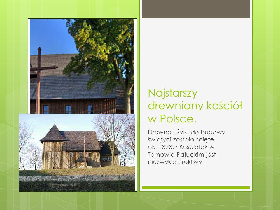 Najstarszy drewniany kościół w Polsce. Drewno użyte do budowy świątyni zostało ścięte ok. 1373. r Kościółek w Tarnowie Pałuckim jest niezwykle urokliw
