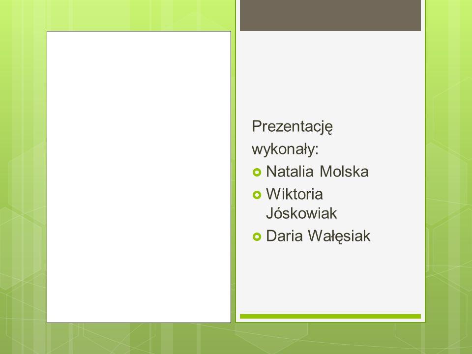 Prezentację wykonały:  Natalia Molska  Wiktoria Jóskowiak  Daria Wałęsiak