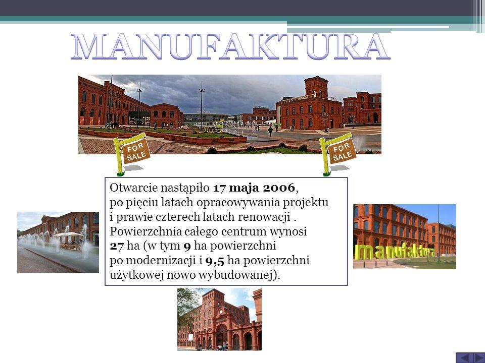Otwarcie nastąpiło 17 maja 2006, po pięciu latach opracowywania projektu i prawie czterech latach renowacji. Powierzchnia całego centrum wynosi 27 ha