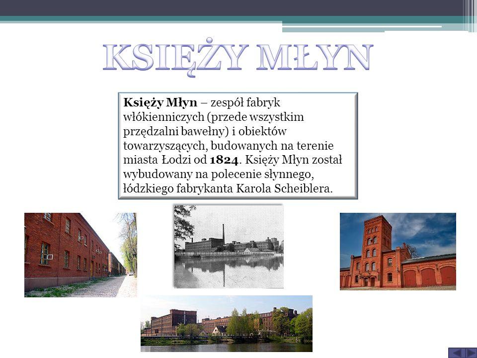 Księży Młyn – zespół fabryk włókienniczych (przede wszystkim przędzalni bawełny) i obiektów towarzyszących, budowanych na terenie miasta Łodzi od 1824