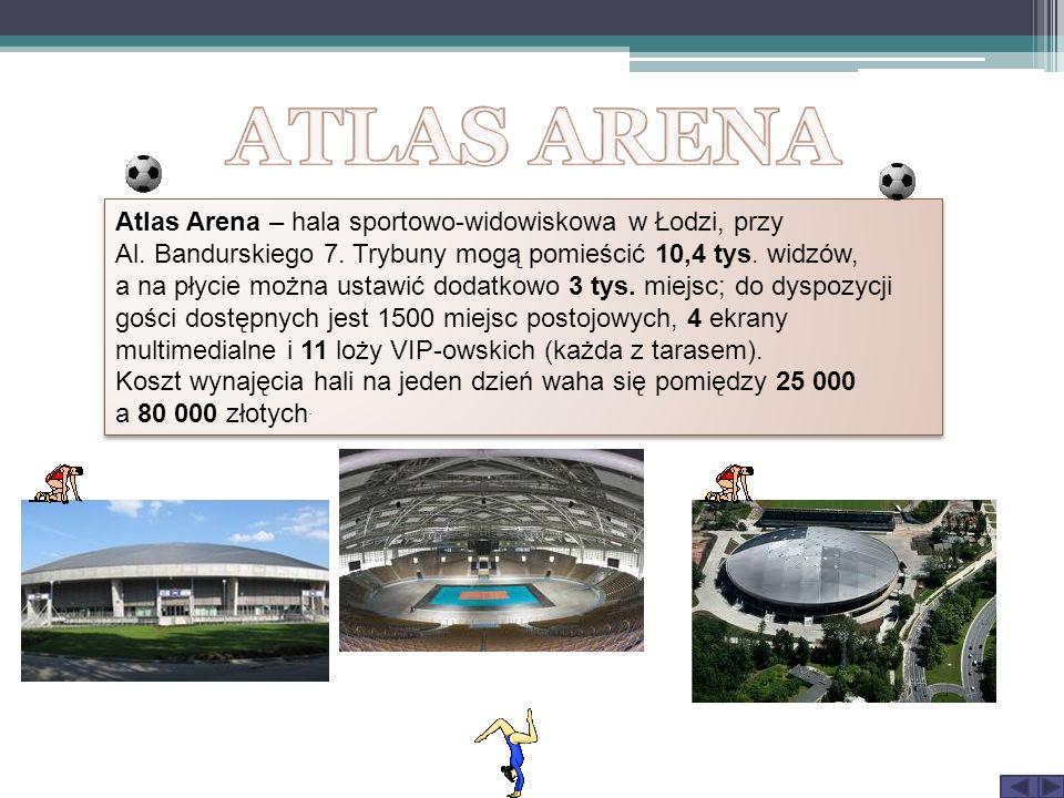 Atlas Arena – hala sportowo-widowiskowa w Łodzi, przy Al. Bandurskiego 7. Trybuny mogą pomieścić 10,4 tys. widzów, a na płycie można ustawić dodatkowo
