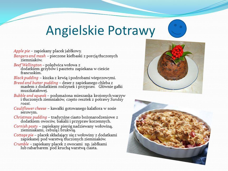 Angielskie Potrawy Apple pie – zapiekany placek jabłkowy.