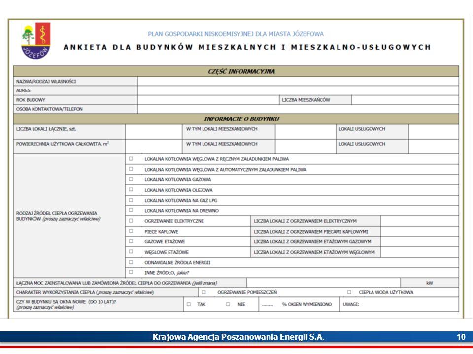 Krajowa Agencja Poszanowania Energii S.A. 10