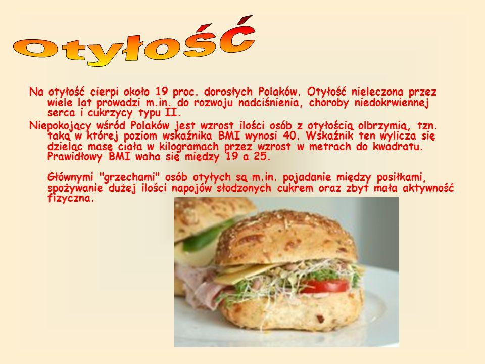 Na otyłość cierpi około 19 proc. dorosłych Polaków.