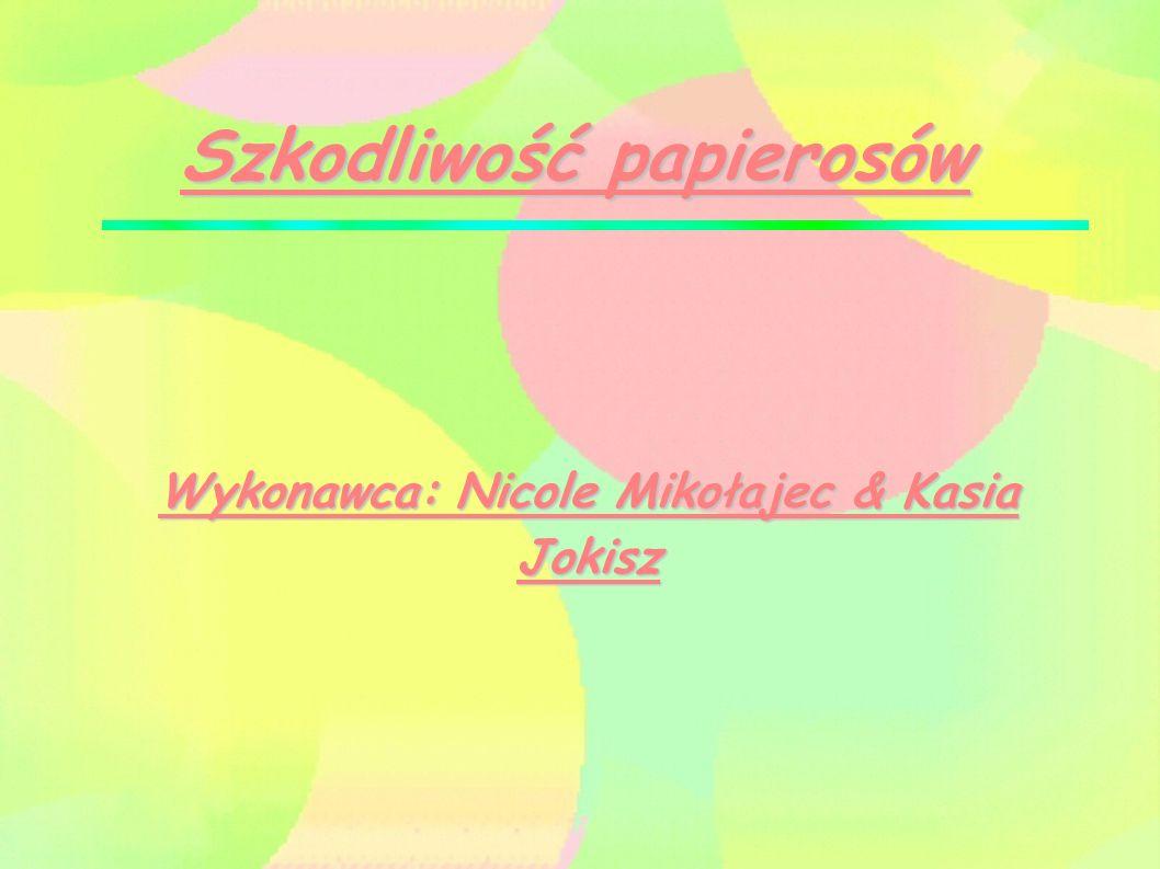 Szkodliwość papierosów Wykonawca: Nicole Mikołajec & Kasia Jokisz