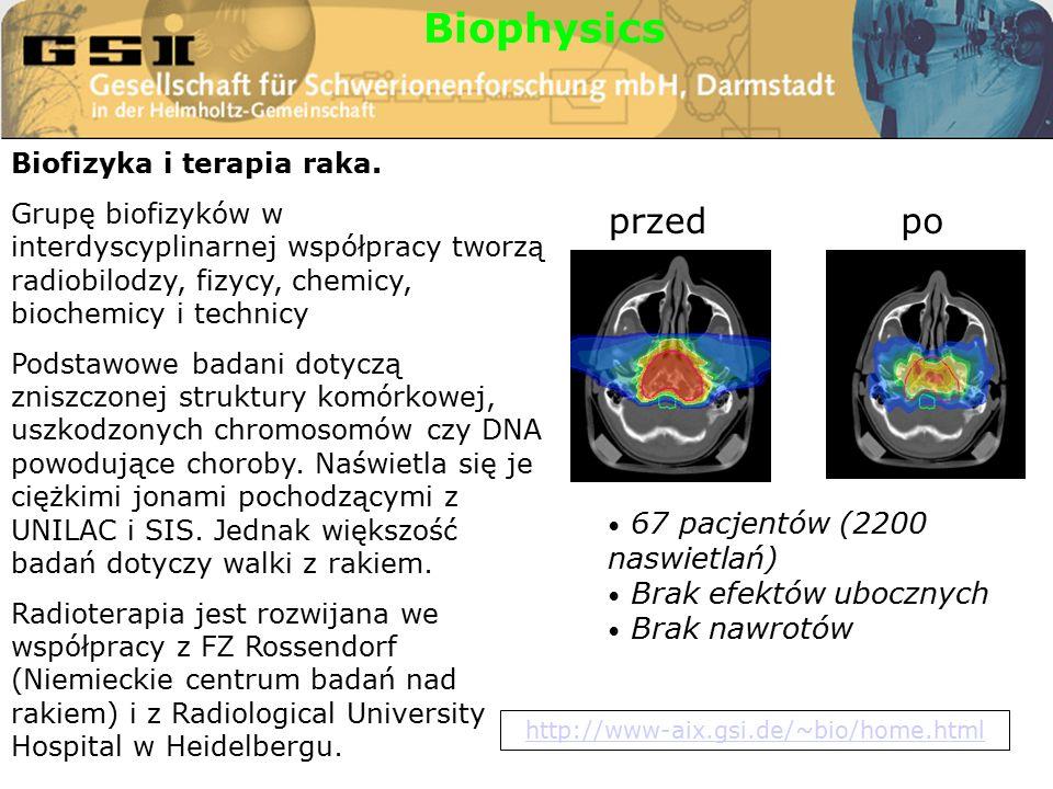 Biofizyka i terapia raka.