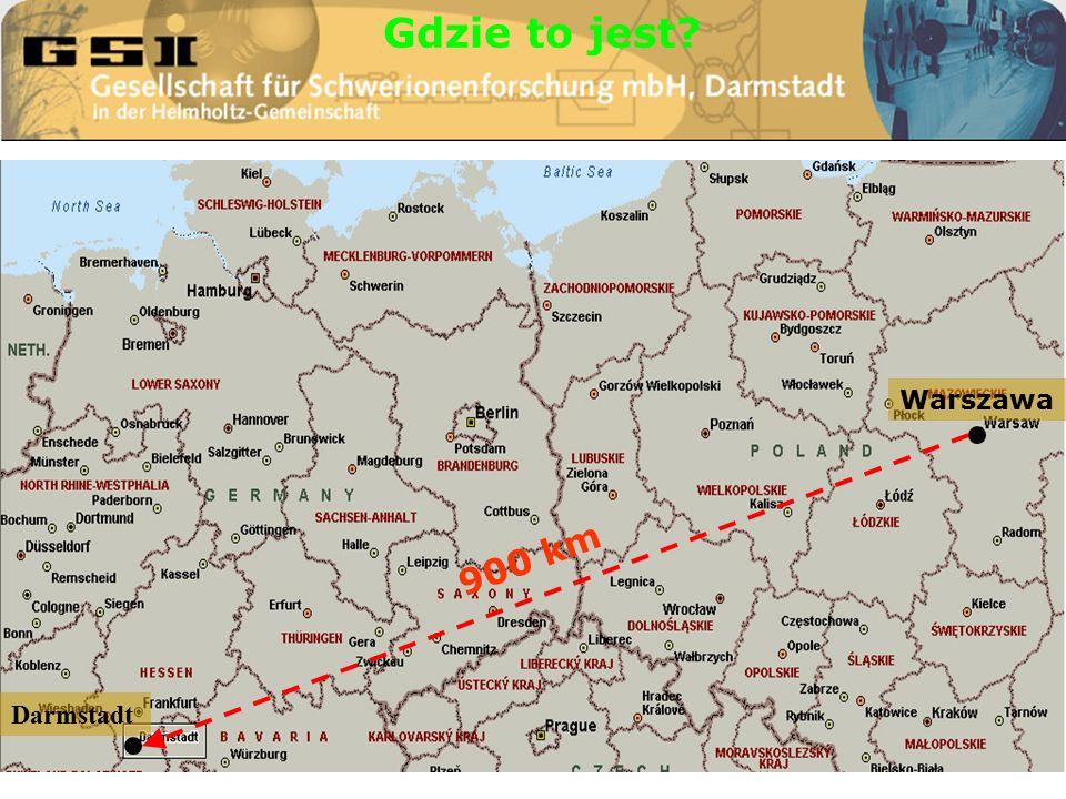 Gdzie to jest 900 km Darmstadt Warszawa