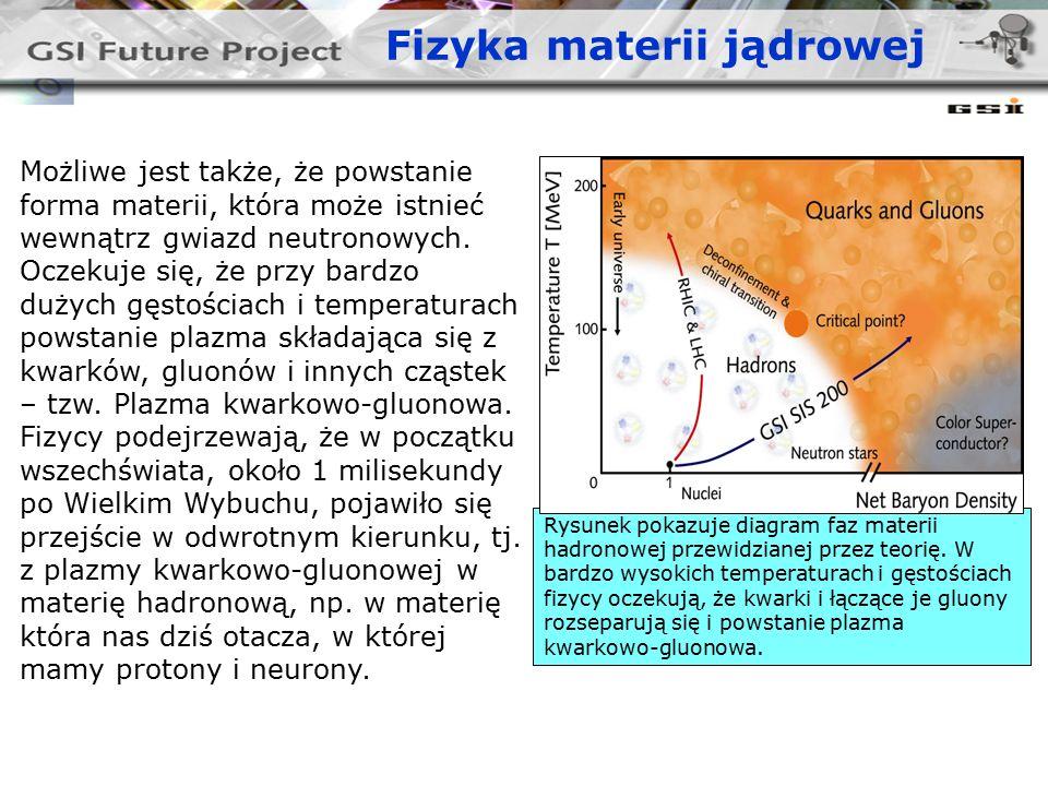 Fizyka materii jądrowej Możliwe jest także, że powstanie forma materii, która może istnieć wewnątrz gwiazd neutronowych.