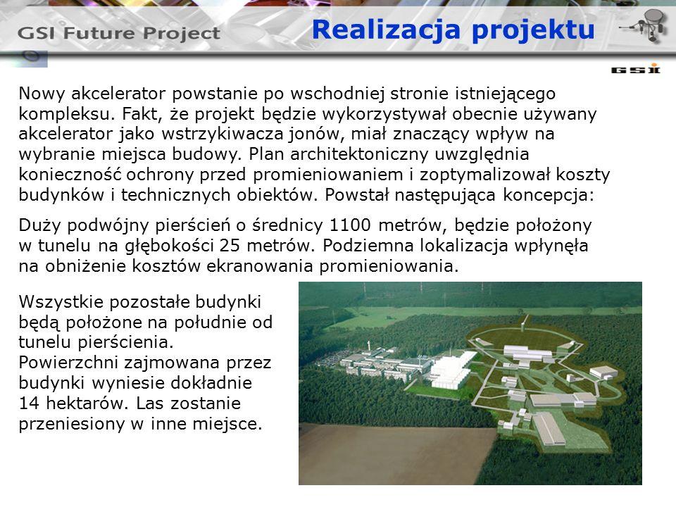 Realizacja projektu Nowy akcelerator powstanie po wschodniej stronie istniejącego kompleksu.