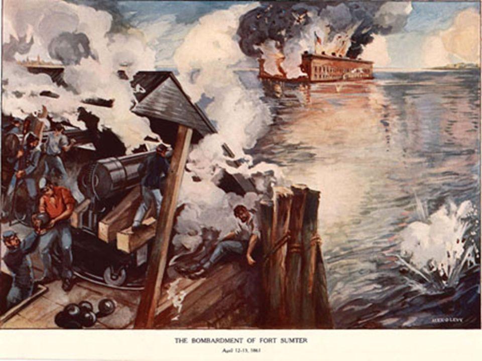 PRZEBIEG WOJNY XII 1860Secesja Karoliny Południowej z Unii – w ślad za nią kolejne stany południa ogłaszały secesję II 1861Zjazd w Montgomery przedsta