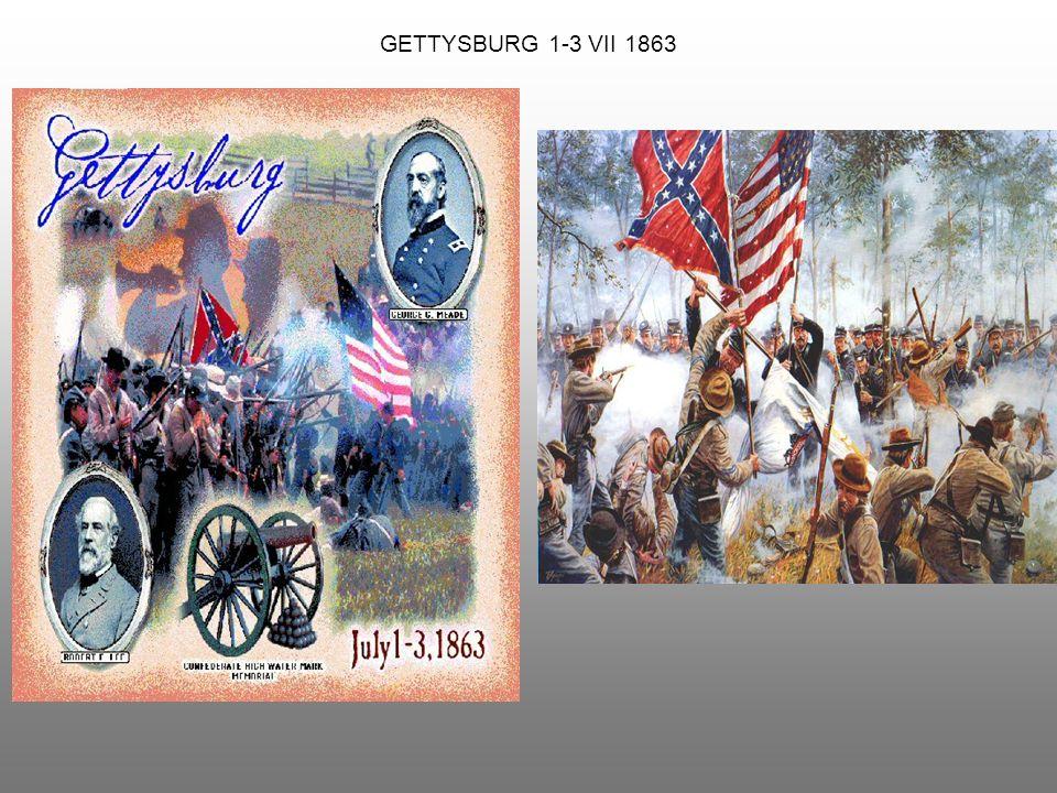 PRZEBIEG WOJNY IV 1861Północ wprowadziła blokadę wybrzeży Konfederacji – próba sparaliżowania gospodarki Południa.