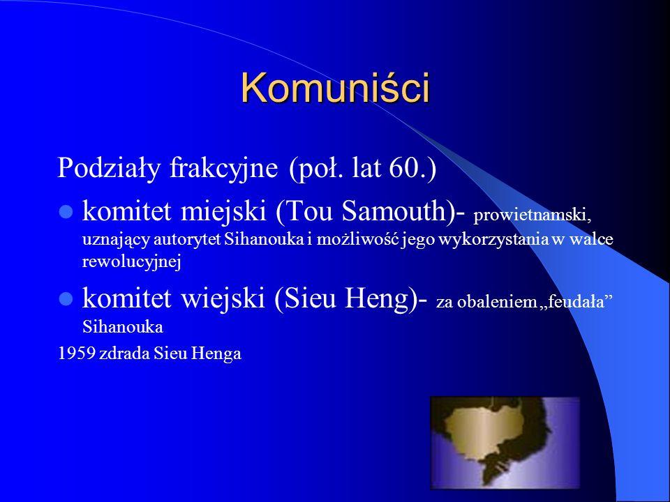 Komuniści Podziały frakcyjne (poł.