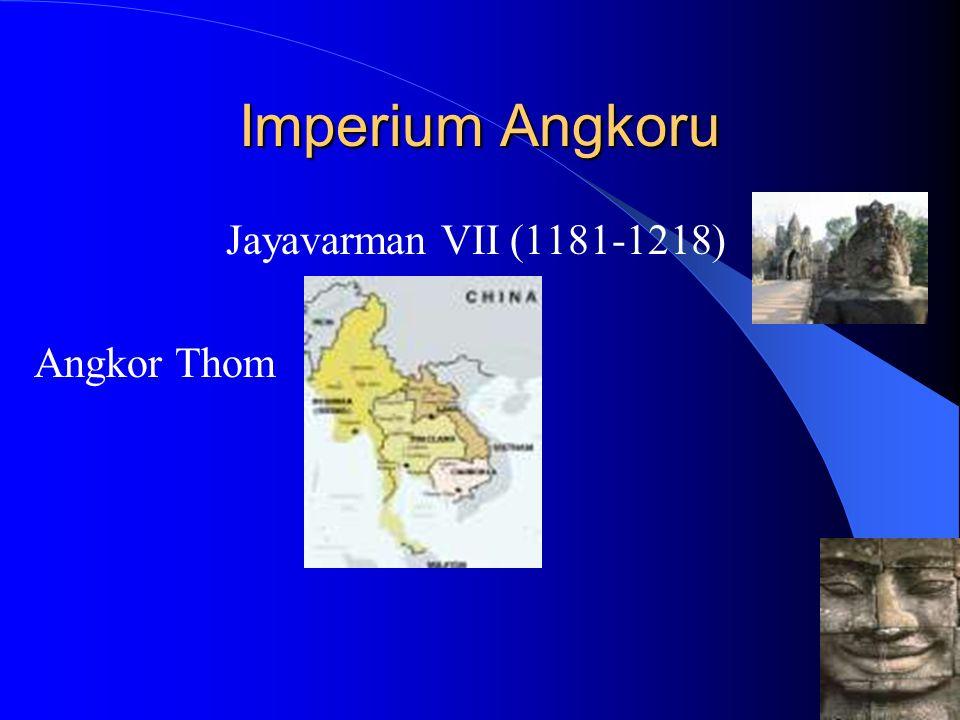 Upadek Imperium Rozpad Angkoru 1353 pierwsze zdobycie Angkoru 1431 opuszczenie Angkoru i przeniesienie stolicy do Phnom Penh (Krong Chaktomuk) 1594 upadek królestwa Lovek i zależność lenna Kambodży
