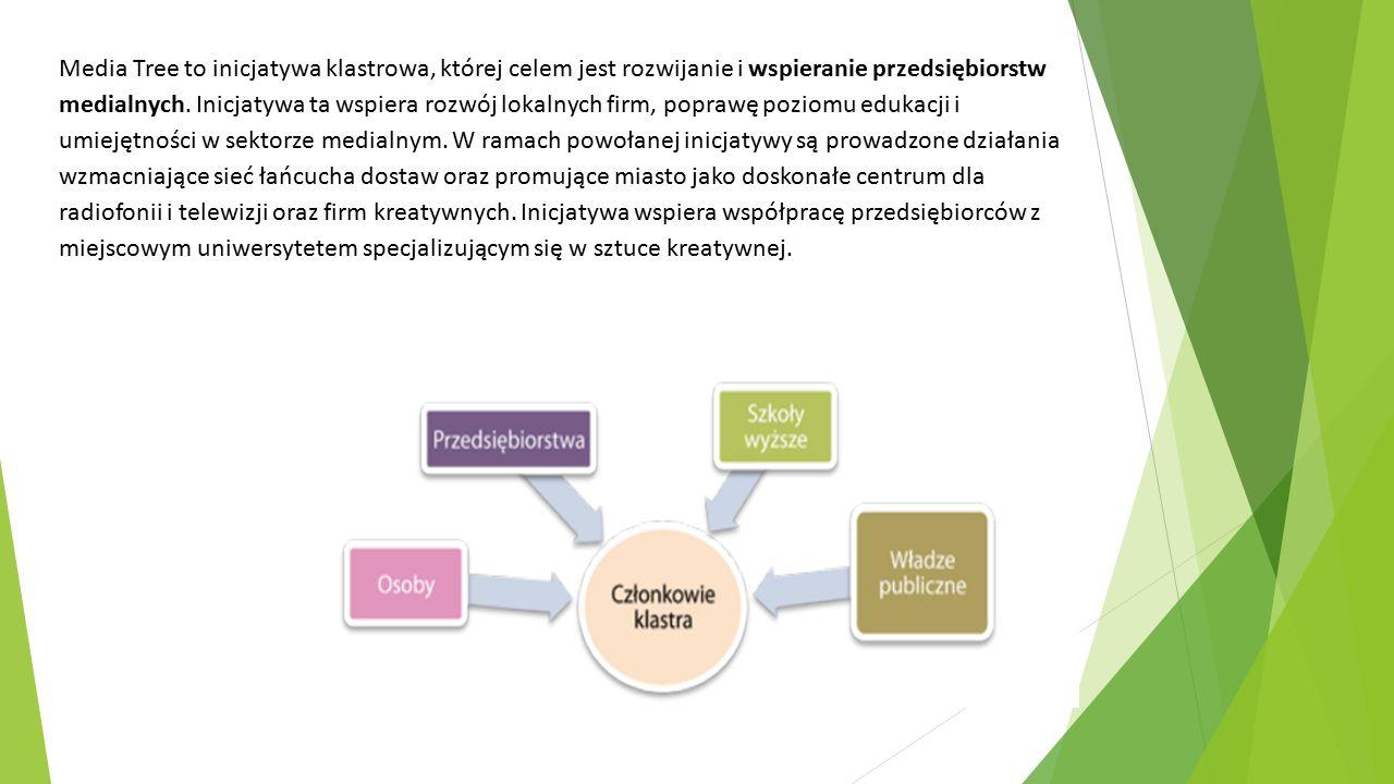 Media Tree to inicjatywa klastrowa, której celem jest rozwijanie i wspieranie przedsiębiorstw medialnych.