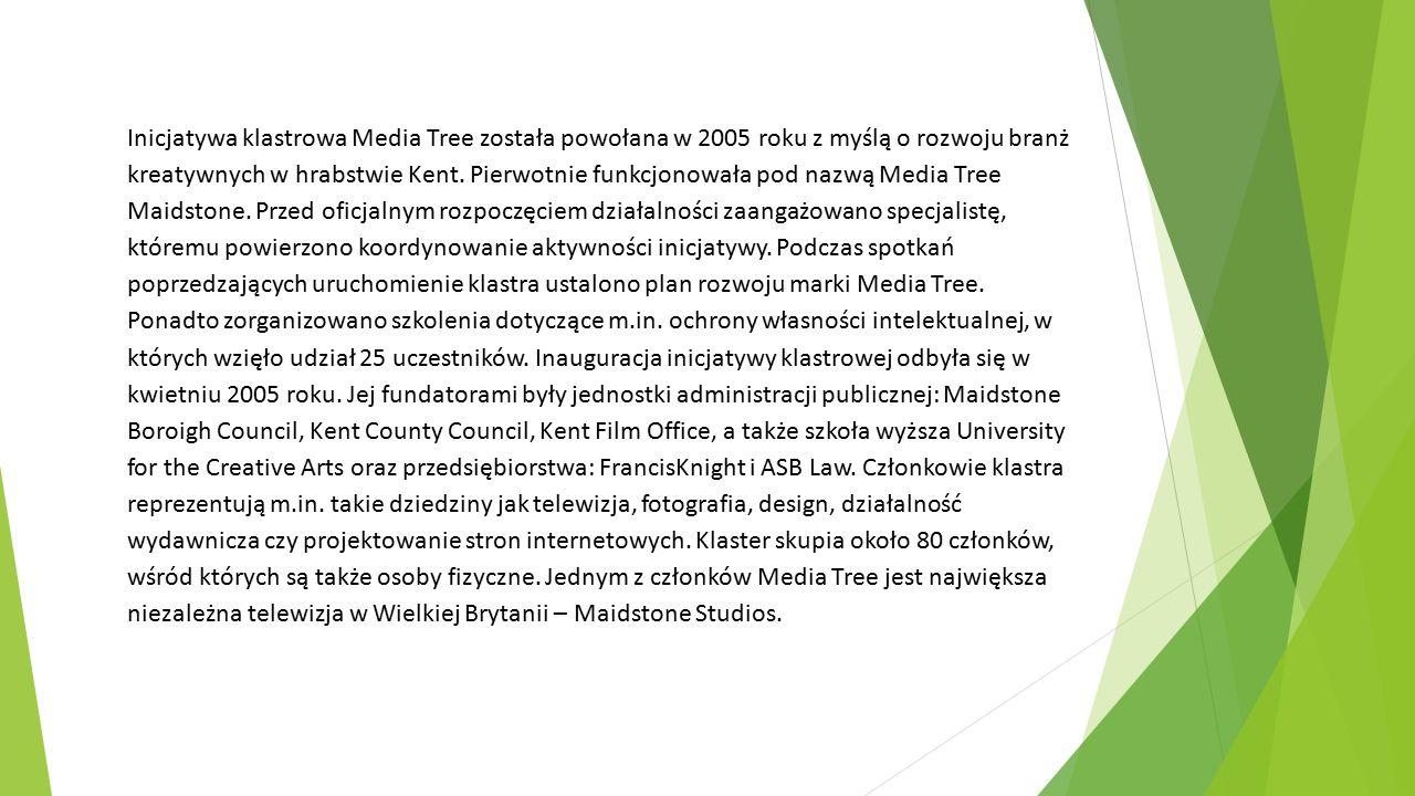 Inicjatywa klastrowa Media Tree została powołana w 2005 roku z myślą o rozwoju branż kreatywnych w hrabstwie Kent.