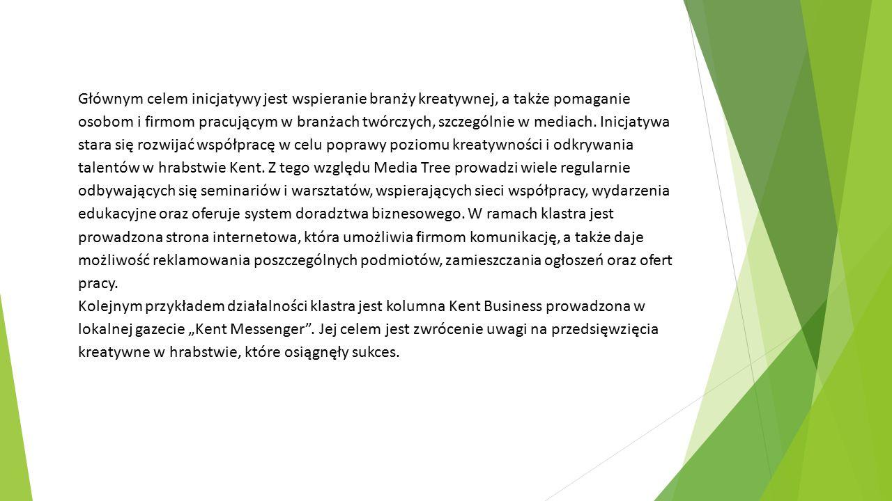 Głównym celem inicjatywy jest wspieranie branży kreatywnej, a także pomaganie osobom i firmom pracującym w branżach twórczych, szczególnie w mediach.