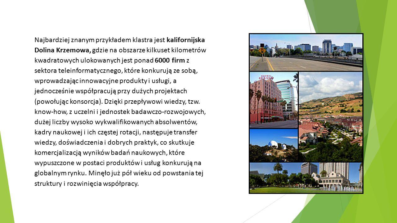 Źródła:  Klastry w sektorach kreatywnych – motory rozwoju miast i regionów, S.