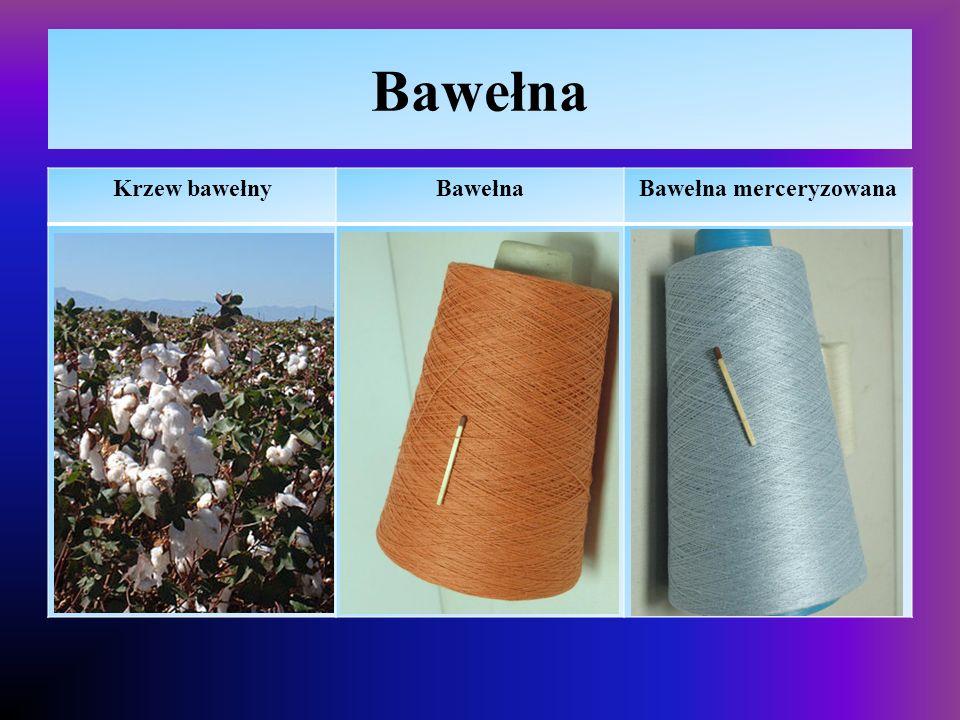 Włókna naturalne – len  Właściwości – polikondensat rośliny, polisacharyd, włókna dłuższe niż bawełnianie  higroskopijna, przewiewna daje się barwić, łatwo palna,  duża podatność na gniecenie i zbieganie się, tkaniny mniej delikatne niż bawełniane  Zastosowanie  Tkaniny odzieżowe, pościelowe,  Obrusy, serwety