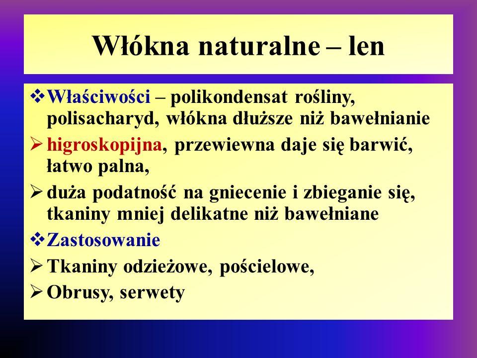 Len RoślinaWłókno i tkanina
