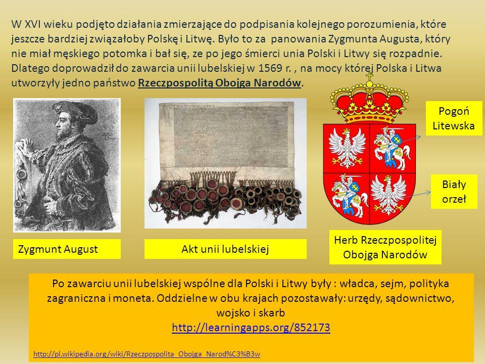 W XVI wieku podjęto działania zmierzające do podpisania kolejnego porozumienia, które jeszcze bardziej związałoby Polskę i Litwę. Było to za panowania