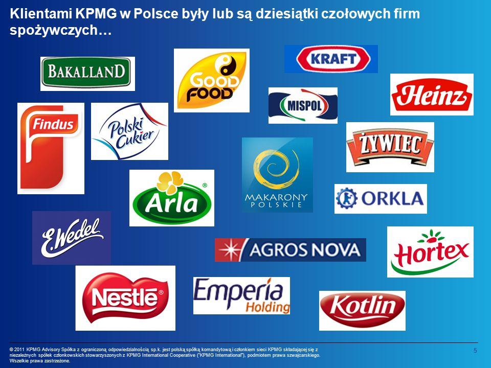 6 © 2011 KPMG Advisory Spółka z ograniczoną odpowiedzialnością sp.k.