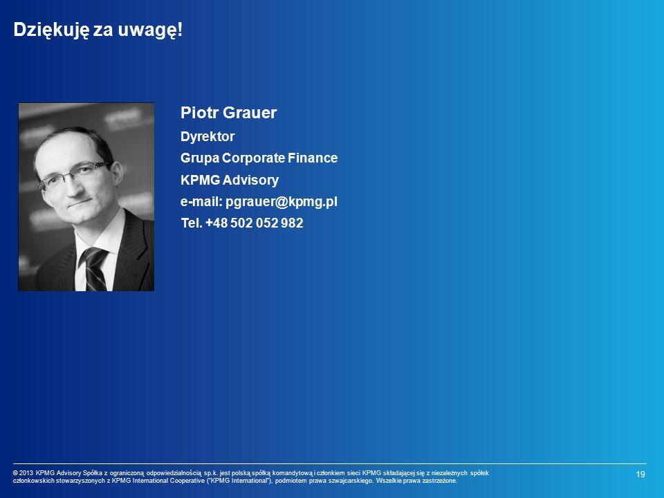 19 © 2013 KPMG Advisory Spółka z ograniczoną odpowiedzialnością sp.k.