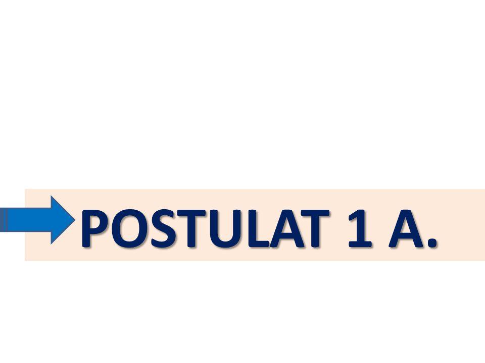 POSTULAT 1 A.