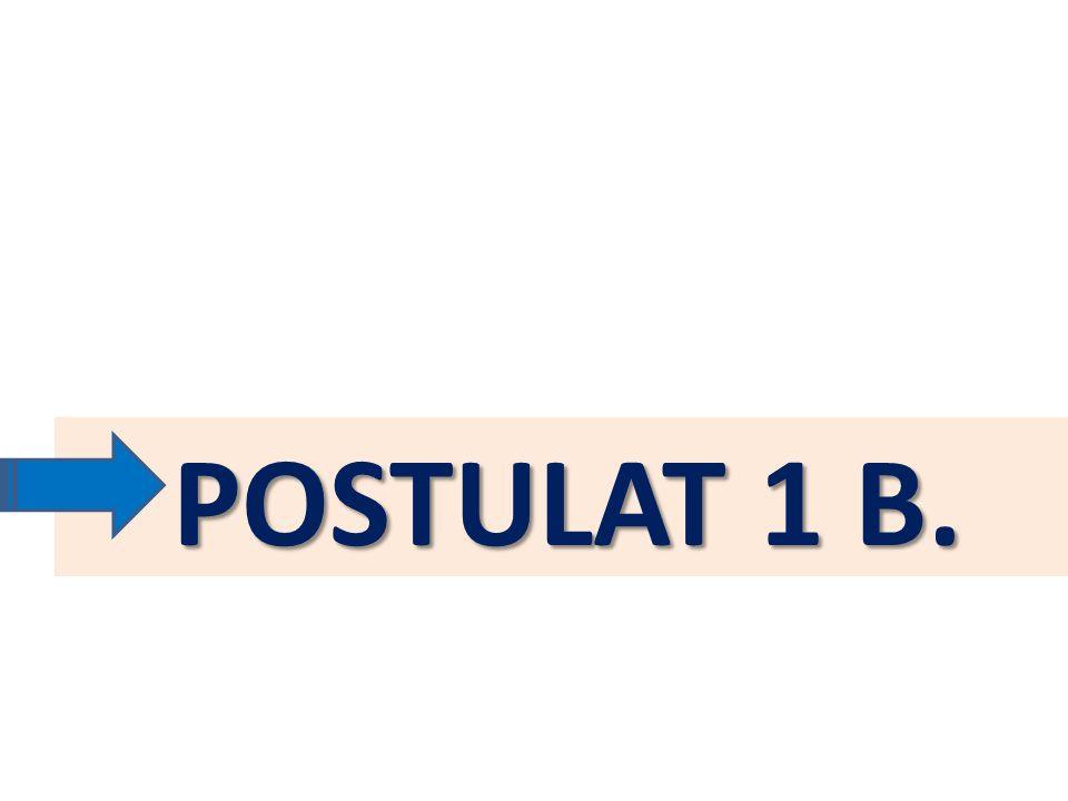 POSTULAT 1 B.