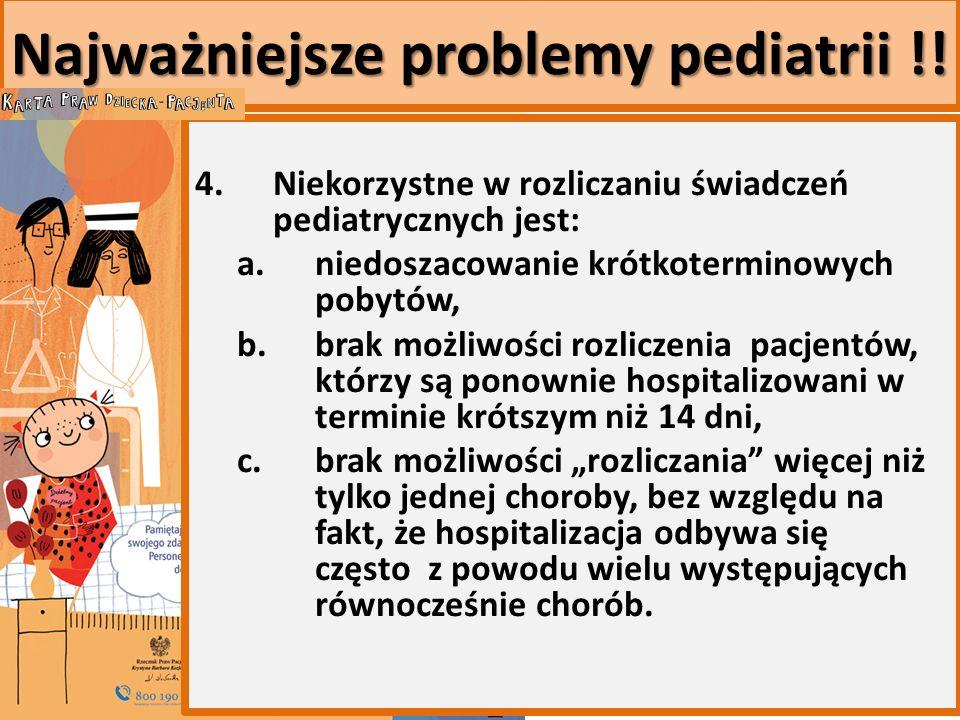 Najważniejsze problemy pediatrii !. 4.