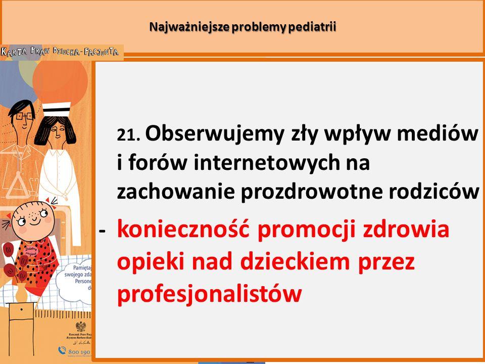 Najważniejsze problemy pediatrii 21.