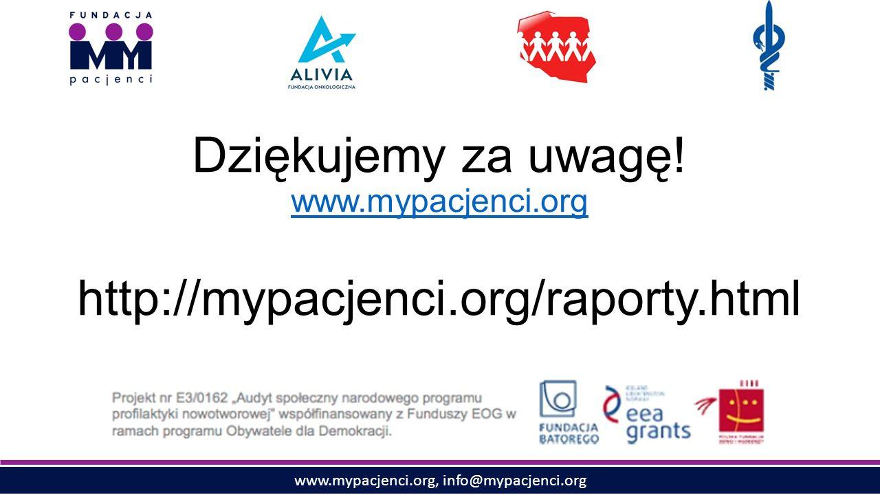 www.mypacjenci.org, info@mypacjenci.org Dziękujemy za uwagę.